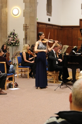 Performance of Mendelssohn's Concerto for Violin and Piano